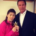 シュワちゃんが日本で会いたかった人は、吉田沙保里と石原環境相?