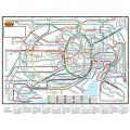 『2016年1月始まり壁掛カレンダー東京近郊路線図 CK‐103』