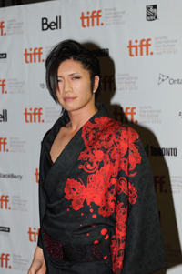 "TORONTO, ON - SEPTEMBER 11: Musician Gackt attends the ""Bunraku"" Premiere held at Roy Thomson Hall during the 35th Toronto International Film Festival on September 11, 2010 in Toronto, Canada. (Photo by Charles Le/Getty Images)"