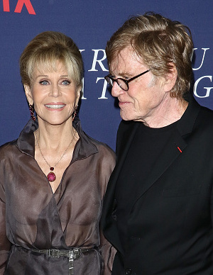 "NEW YORK, NY - SEPTEMBER 27:  Actress Jane Fonda and actor/director/producer Robert Redford attend the New York premiere of ""Our Souls At Night"" hosted by Netflix at The Museum of Modern Art on September 27, 2017 in New York City.  (Photo by Jim Spellman/WireImage)"