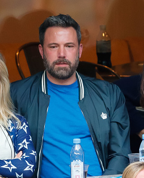 NEW YORK, NY - SEPTEMBER 10:  Ben Affleck and Lindsay Shookus attend the 2017 US Open Tennis Championships  at Arthur Ashe Stadium on September 10, 2017 in New York City.  (Photo by Jackson Lee/WireImage)