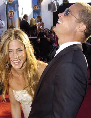Jennifer Aniston and Brad Pitt (Photo by Jeff Kravitz/FilmMagic)