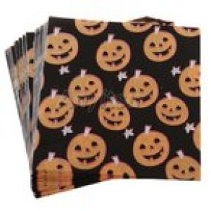 40ピース/個Happy Halloween Pumpkin Paper Napkin Disposable Napkin Decor