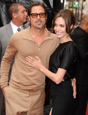 "HOLLYWOOD, CA - MAY 22:  Brad Pitt and Angelina Jolie attends the Los Angeles premiere of ""Kung Fu Panda 2"" at Grauman's Chinese Theatre on May 22, 2011 in Hollywood, California.  (Photo by Steve Granitz/WireImage)"