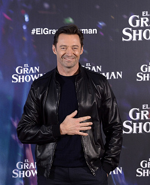 MADRID, SPAIN - DECEMBER 01:  Hugh Jackman attends a photocall for 'The Greatest Showman' ('El Gran Showman') at the Villa Magna Hotel on December 1, 2017 in Madrid, Spain.  (Photo by Fotonoticias/WireImage)