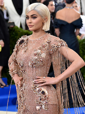 "NEW YORK, NY - MAY 01:  Kylie Jenner attends the ""Rei Kawakubo/Comme des Garcons: Art Of The In-Between"" Costume Institute Gala at Metropolitan Museum of Art on May 1, 2017 in New York City.  (Photo by Mike Coppola/Getty Images for People.com)"