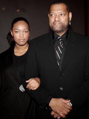 WASHINGTON - NOVEMBER 13:  Laurence Fishburne and his daughter Montana arrive at the National Dream Gala to celebrate the Martin Luther King Jr. Memorial groundbreaking November 13, 2006 in Washington, DC.  (Photo by Nancy Ostertag/Getty Images)