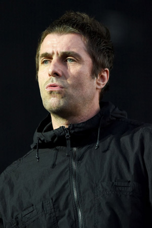 LONDON, ENGLAND - JUNE 29:  Liam Gallagher performs on stage at Finsbury Park on June 29, 2018 in London, England.  (Photo by Dave J Hogan/Dave J Hogan/Getty Images)